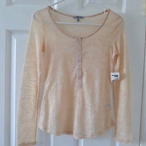 NWT Charlotte russe cream long sleeves shirt.